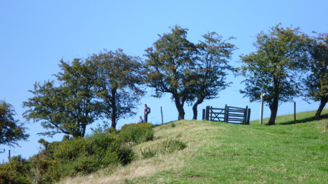 Walkers on Offa's Dyke Path in summer