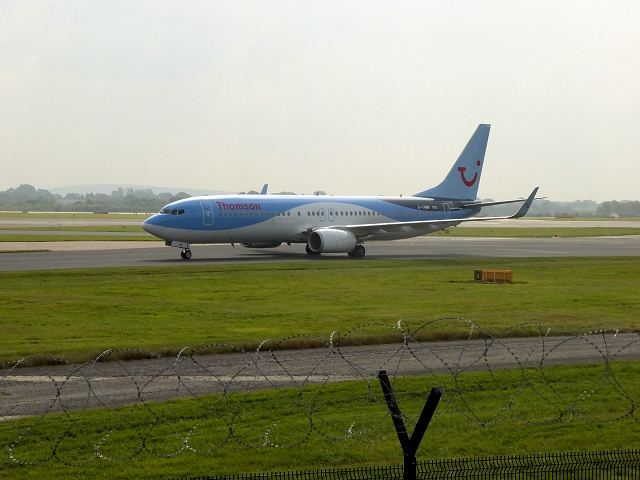 Boeing 737 at Manchester Airport