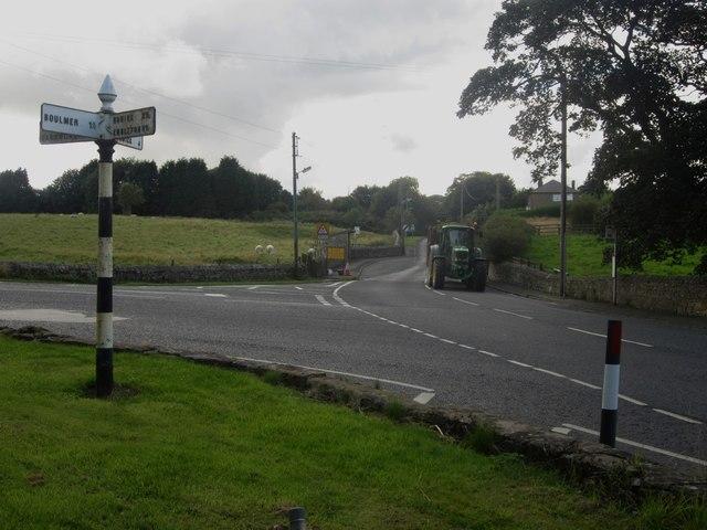 Road junction, Longhoughton
