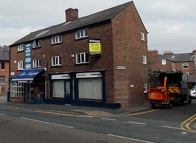 Two Station Road shops near the corner of Warham Street in Wilmslow