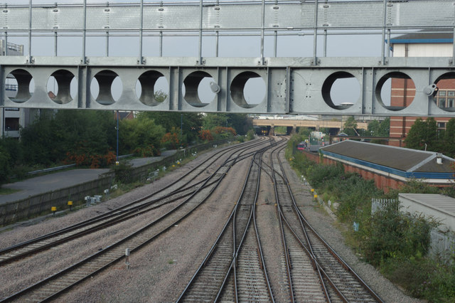 Railway west of Nottingham Station