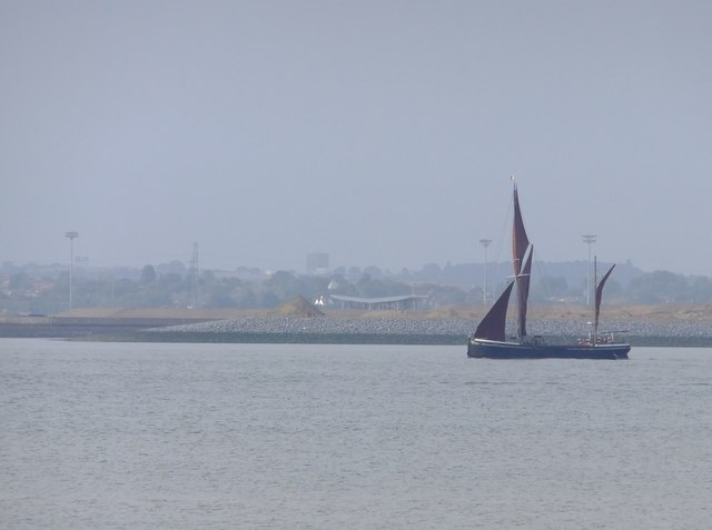 Sailing barge on the Thames near Lower Hope Point