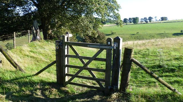 Gate on Offa's Dyke Path