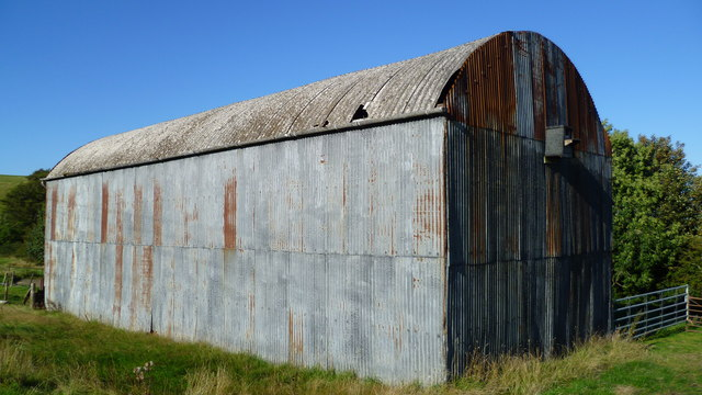 Old corrugated barn beside ODP