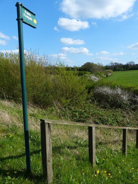 Footpath along Anstey Lane