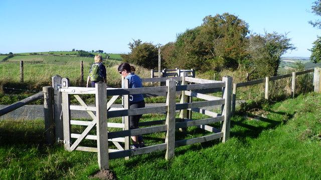 On Offa's Dyke Path near Mainstone