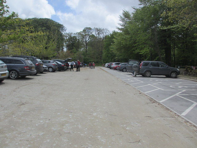 National Trust car park for Lanhydrock