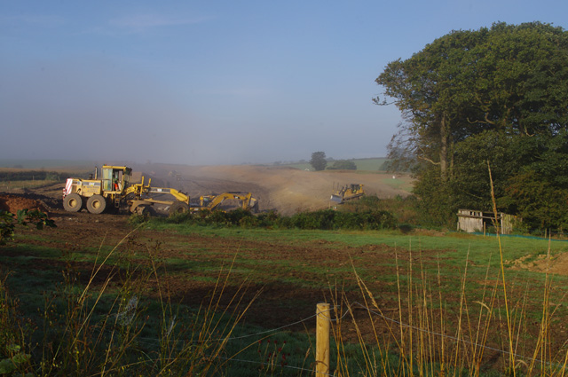 Excavations for M6 link road
