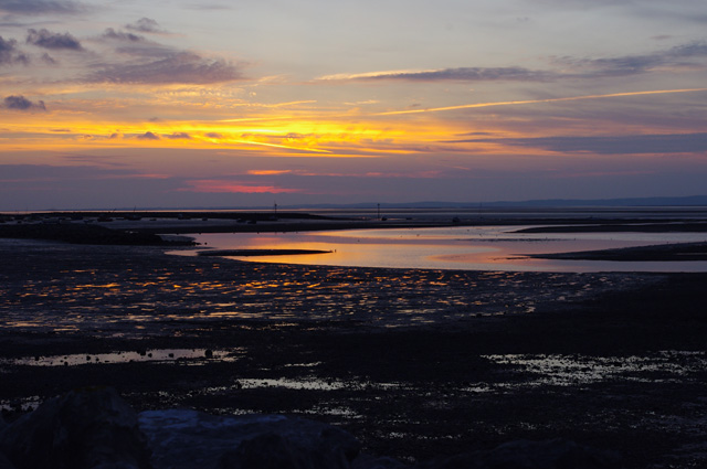 Morecambe sunset at low tide