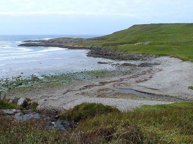 Shingle beach at Kilchiarran Bay