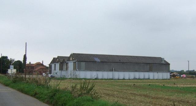 Farm buildings on Sudbrooke Lane