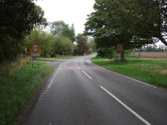 Entering Reepham