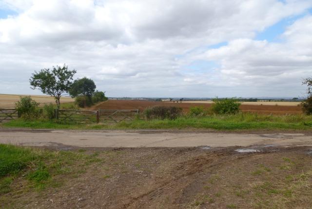 Entrance to farm field