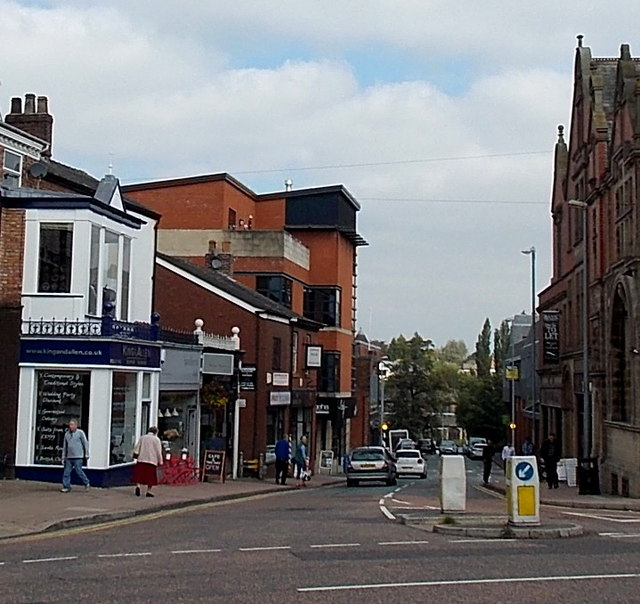 North along Church Street, Wilmslow