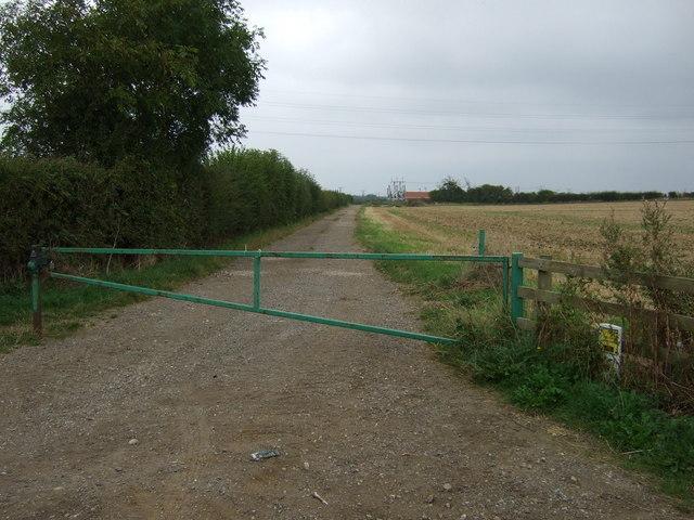 Farm track (bridleway) off Greetwell Lane