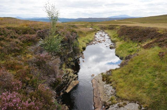 Looking downstream on the Allt a' Chrombaidh