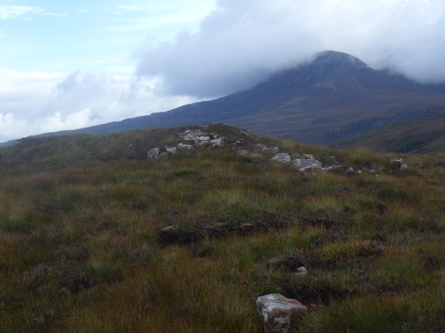 High point of ridge east of Cnoc Scoraig near Ullapool