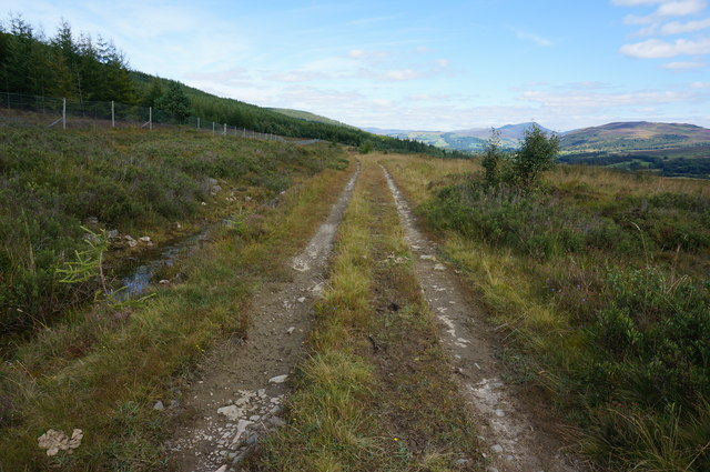 Track heading towards The Falls of Bruar