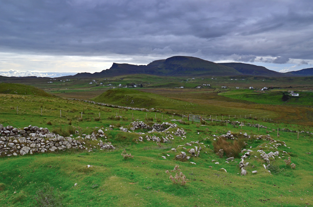 Remains of settlement at Dunvannarain