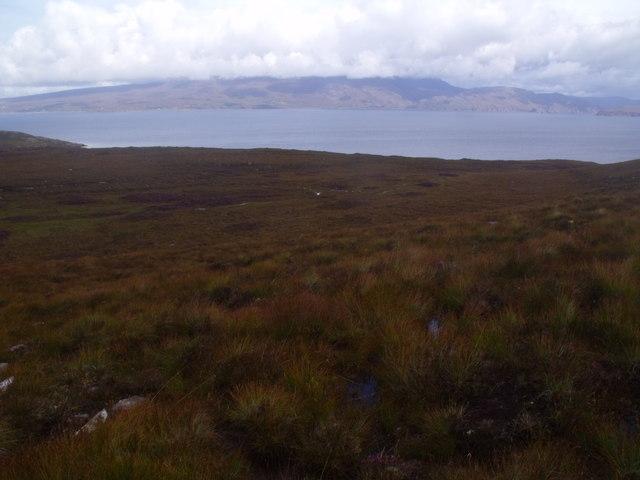 View east from near Annat on Scoraig peninsula