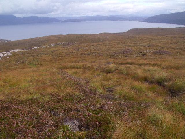 Slopes east of Cnoc Scoraig, Ullapool