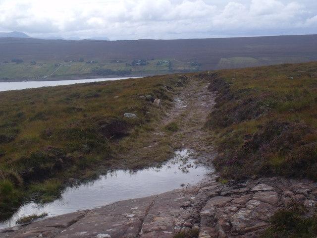 Peat path climbing up from Scoraig, Ullapool