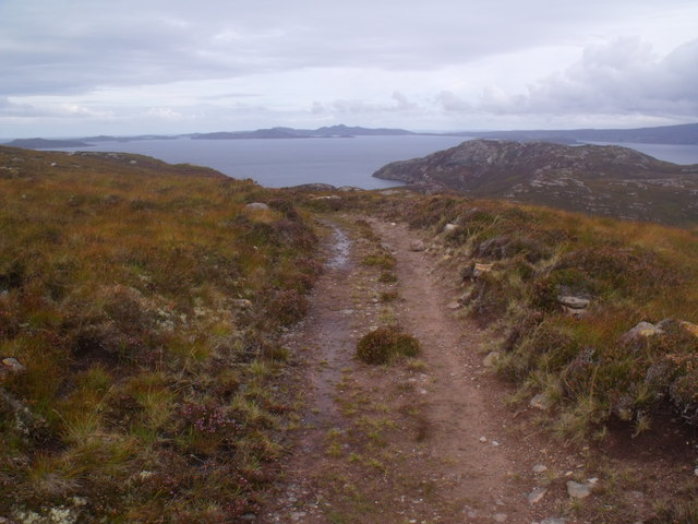Peat path on Cnoc Scoraig near Ullapool