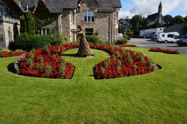 Floral display, Pitlochry