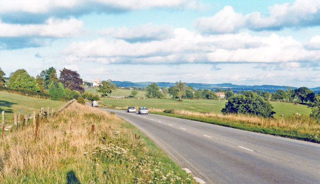 Eastward on A303 near Bourton and Zeals, 1984