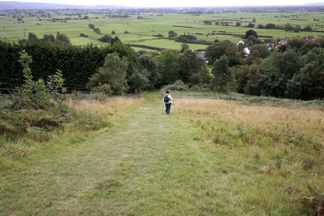 Steep hillside path