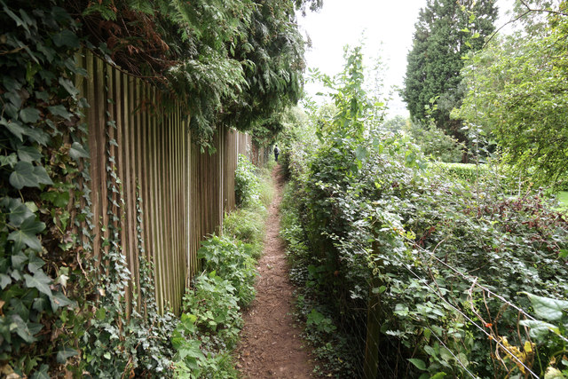 Narrow path to Clevedon Road