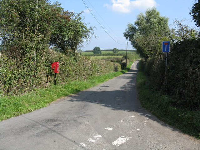 The lane to Hope House farm