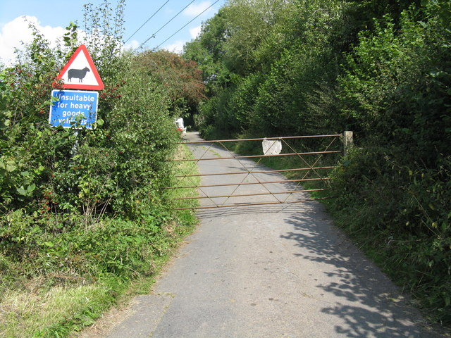 Gated road to Burley