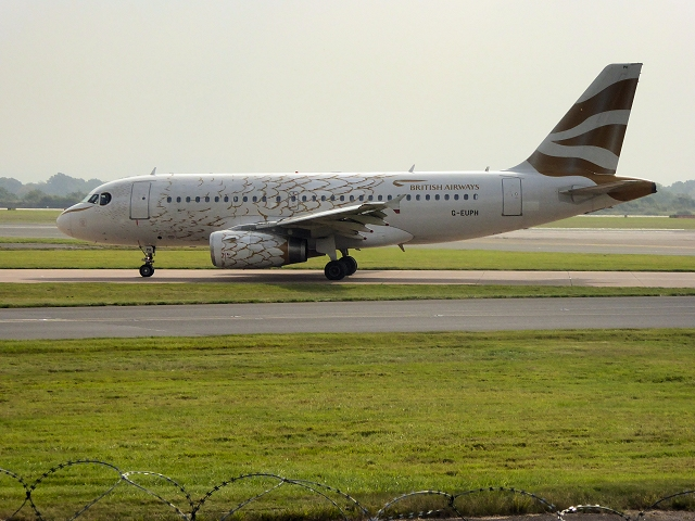Golden Dove Airbus at Manchester Airport