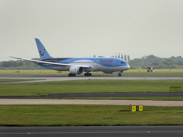 Thomson Holidays Boeing 737 at Manchester Airport