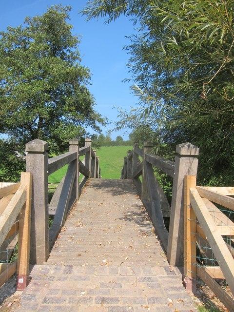 Footbridge across the River Chew between Publow and Woolard