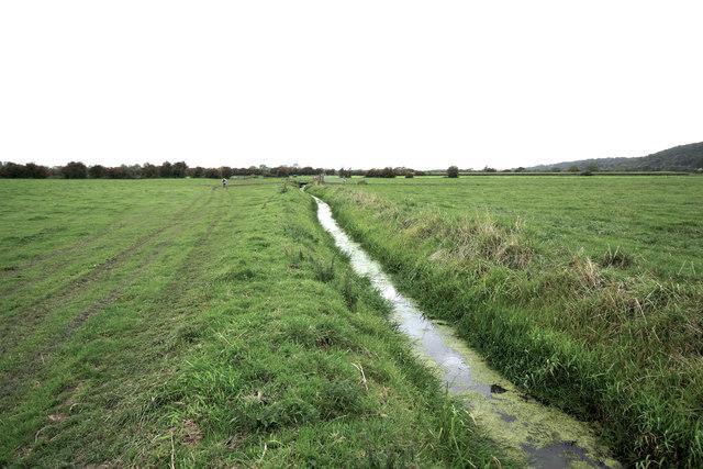 Middle Yeo across Clevedon Moor