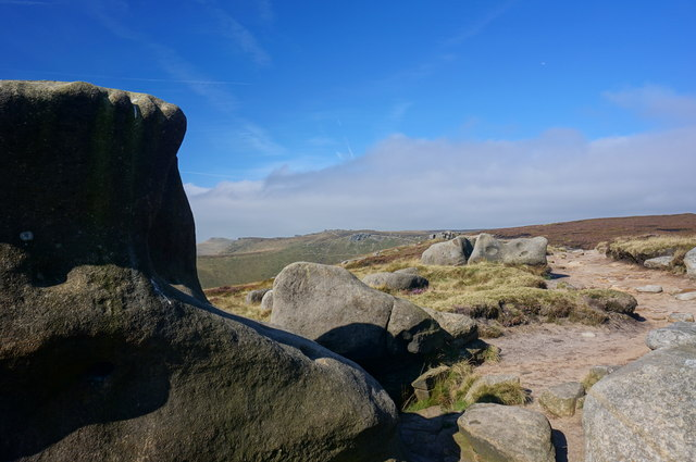 Gritstone rock formations