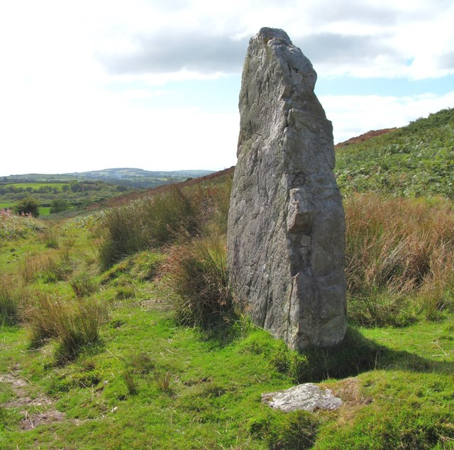 Standing stone, Mynydd Llangyndeyrn
