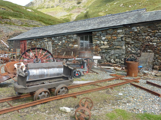 Abandoned buildings and machinery at Coppermines Valley