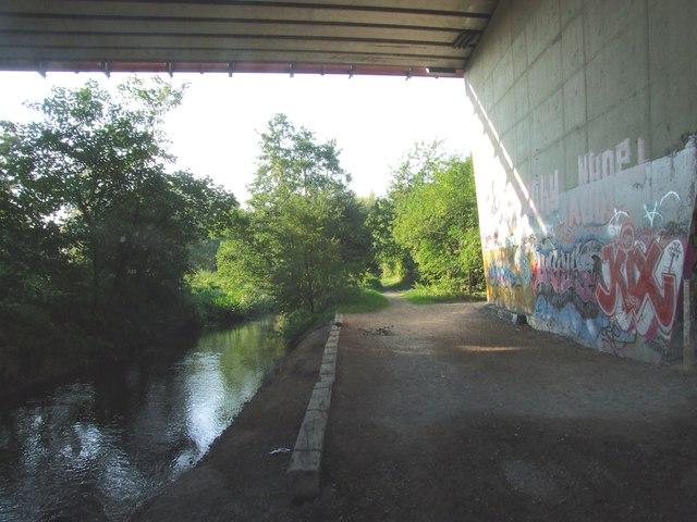River Darent beneath the M25 Motorway