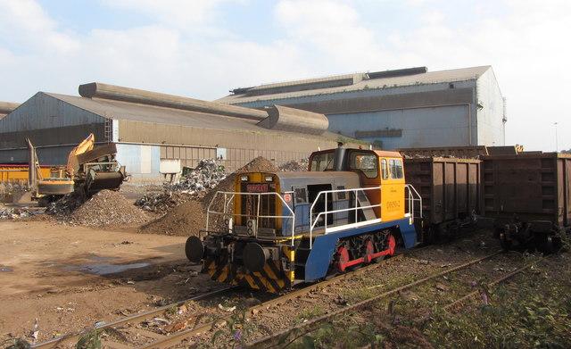 Industrial locomotive at Celsa, Cardiff