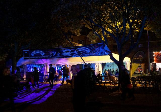 A festival bar on Wellington Street, Hull