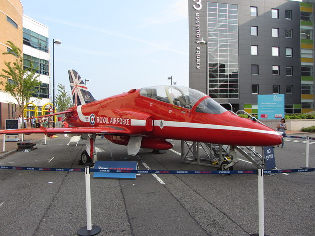 Replica Red Arrow in Cardiff Bay