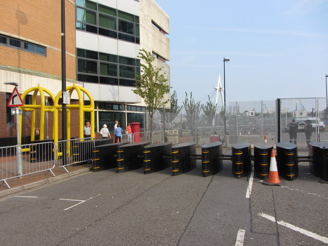 NATO conference security barriers
