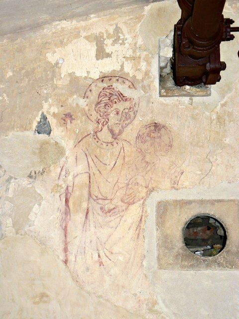 Wall painting, Lacock Abbey, Lacock, Wiltshire