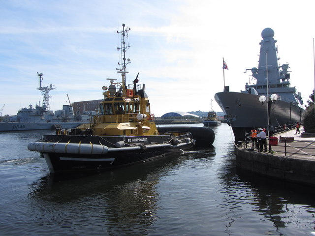 NATO warships in Cardiff Bay