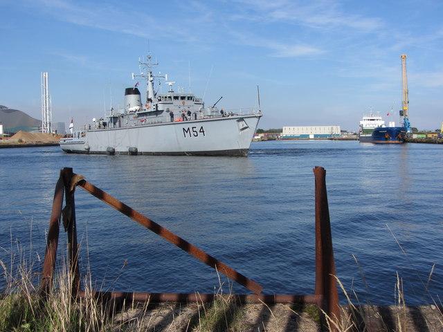 NATO warships in Cardiff Bay: LNS Kursis