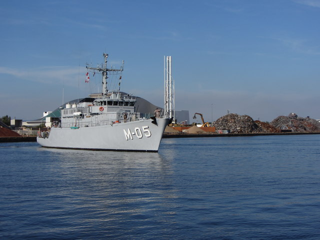 NATO warships in Cardiff Bay: LVNS Viesturs