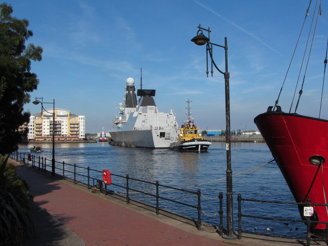 NATO warships in Cardiff Bay: HMS Duncan